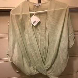 Rayon mint green sheer cardigan